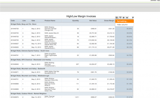 sing Conditional Formatting In Self-service Reporting - Choose Formatting