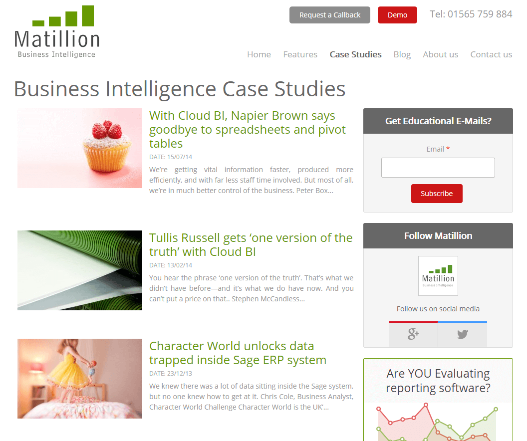 Cloud BI business case studies