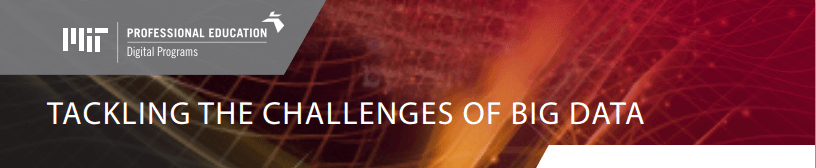 big data courses MIT professional education