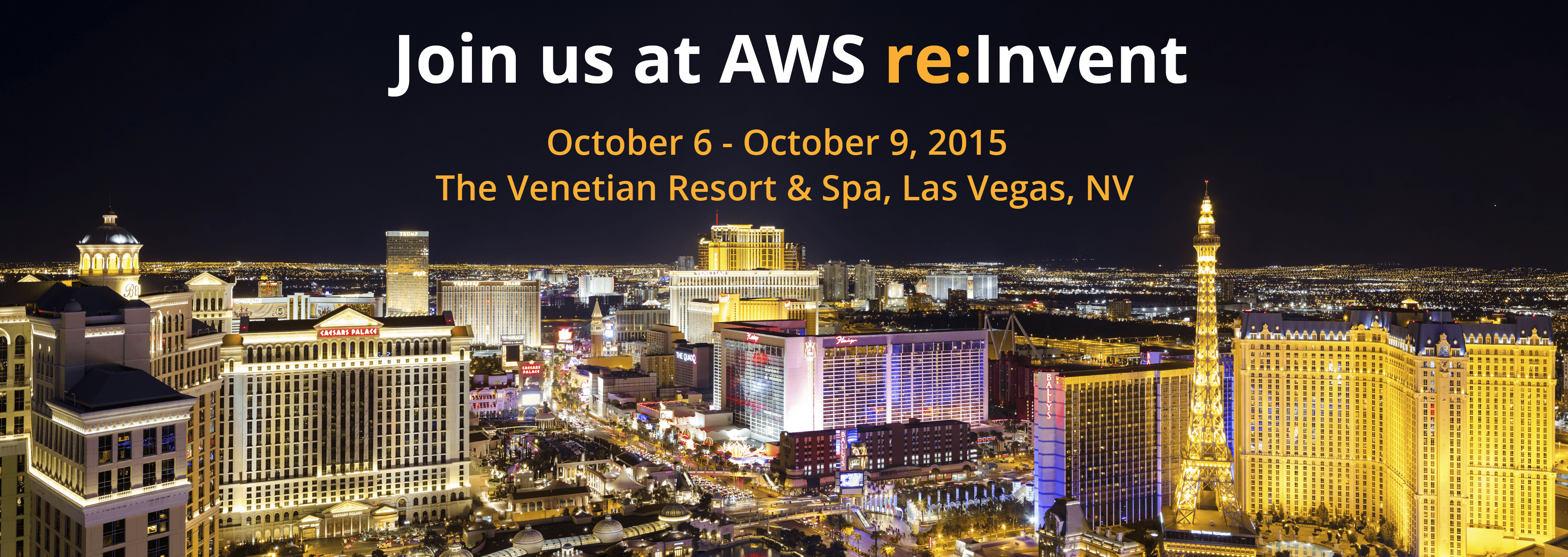 join us at aws re:invent