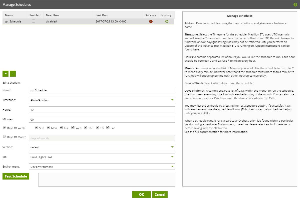 identifying rogue schedule matillion manage schedules