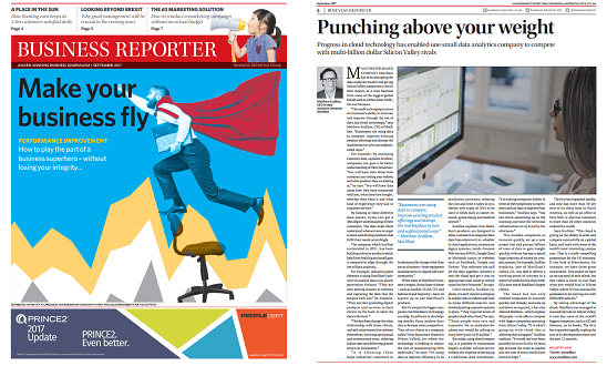Matillion - Business Reporter Sep17 - Punching above your weight - news