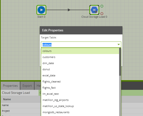 Using the Cloud Storage Load Component in Matillion ETL for