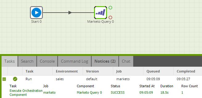 Matillion-ETL-MarketoQueryComponent-Run