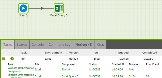 Matillion-ETL-Snowflake-ExcelQueryComponent-Run