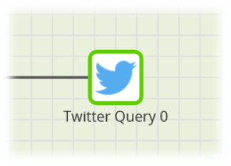 Matillion-Amazon-Redshift-Twitter Query component-border will turn green when correctly configured
