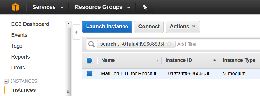 upgrading your instance size matillion etl amazon redshift 2 ec2 dashboard