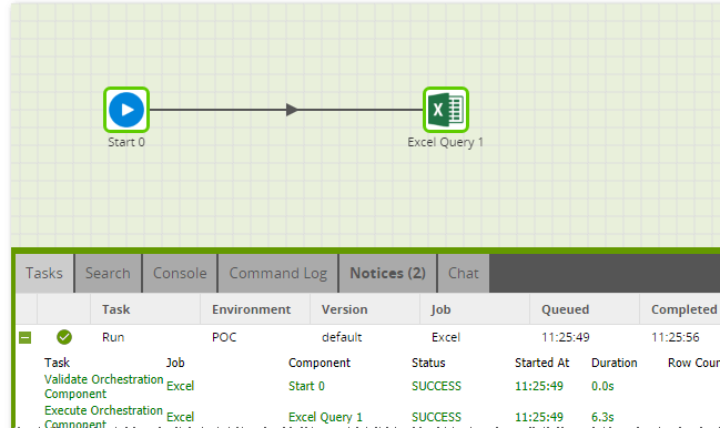 Using the Excel Query component in Matillion ETL for BigQuery - Run Excel Query Component