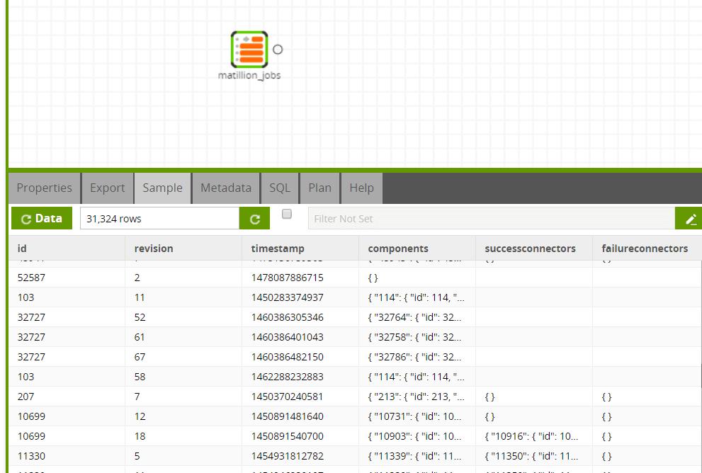 MongoDB Query component in Matillion ETL for Amazon Redshift - Transformation Job