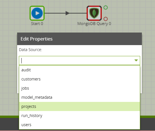 MongoDB Query component in Matillion ETL for Snowflake - Data Source