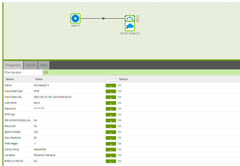 Using the S3 Put Object component in Matillion ETL for Snowflake - Copy More Files Iteration