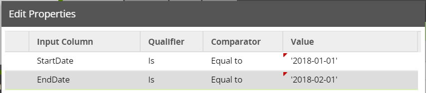 Google AdWords Query Component - Data Source Filtering