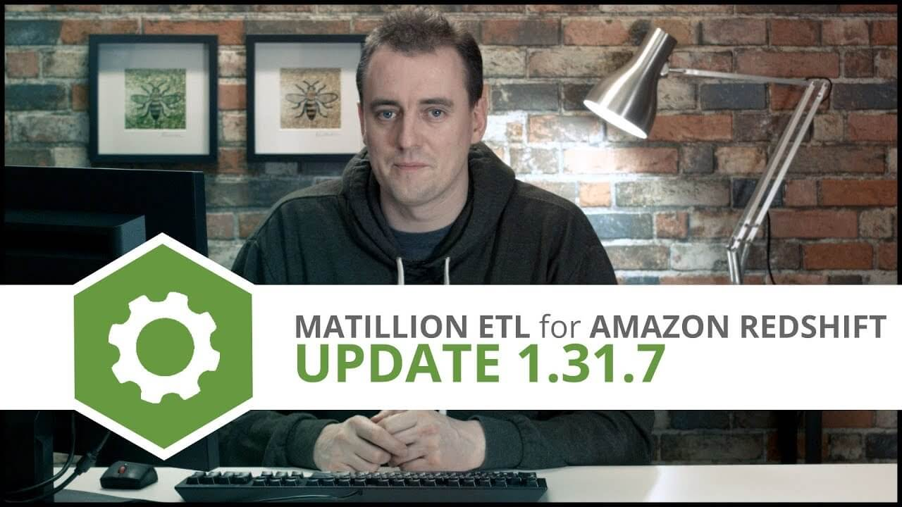 matillion etl for Amazon Redshift v1.31