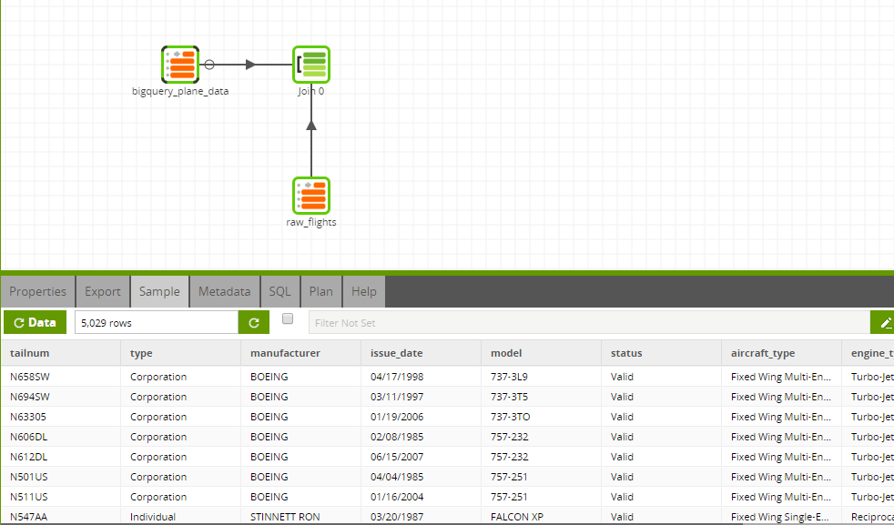 BigQuery Query Component in Matillion ETL for Amazon Redshift - Transformation