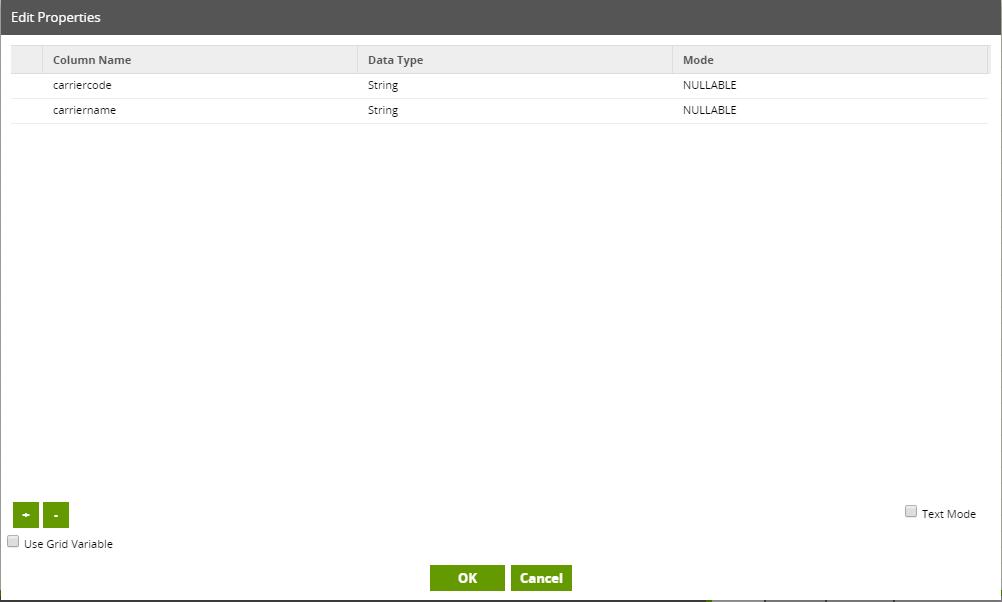 Google Drive Table Component in Matillion ETL for BigQuery - Metadata