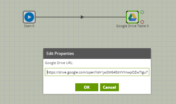 Google Drive Table Component in Matillion ETL for BigQuery - edit properties