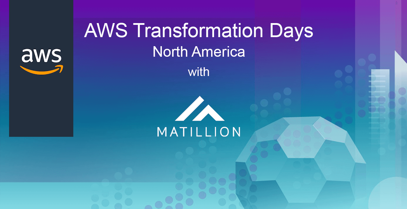 Matillion is on the Road with AWS for Transformation Days North America 2018