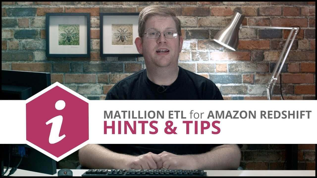 Exposing Complex ETL Pipelines as Simple API Calls | Matillion ETL for Amazon Redshift
