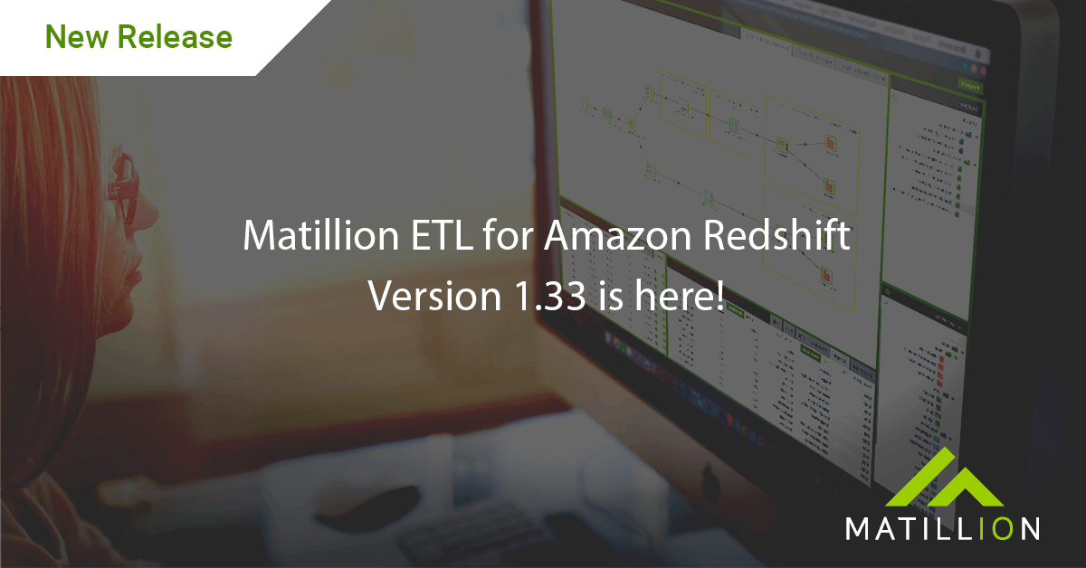 matillion etl for amazon redshift version 1.33