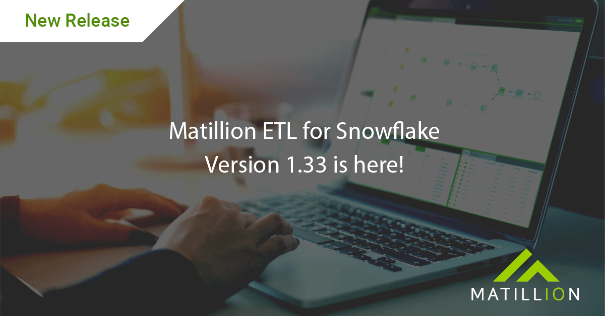 matillion etl for snowflake version 1.33