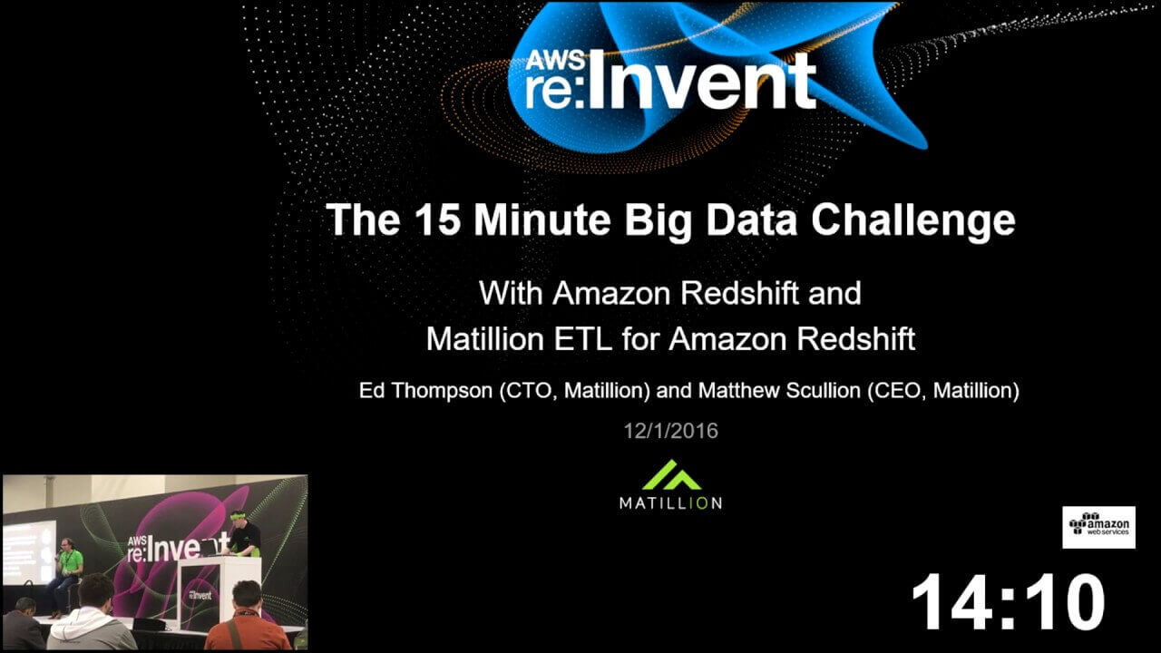 The '15 Minute Big Data Challenge' at AWS Re:Invent