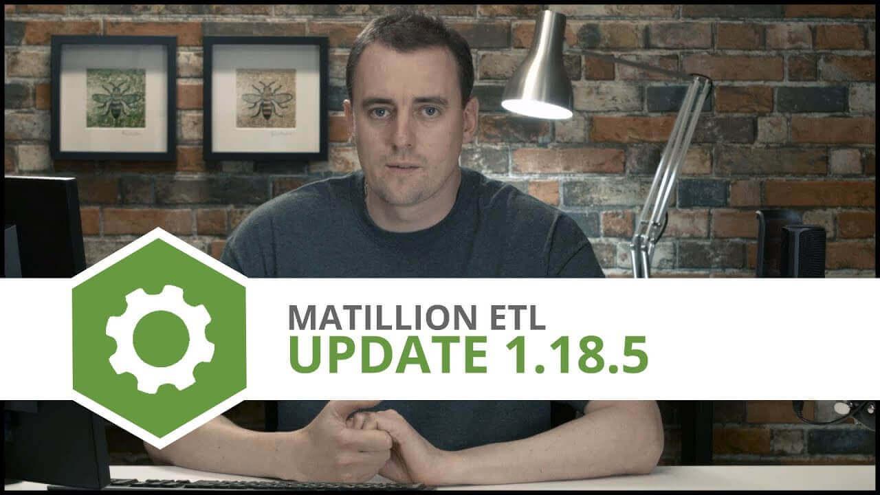 Update | 1.18.5 | Matillion ETL for Amazon Redshift