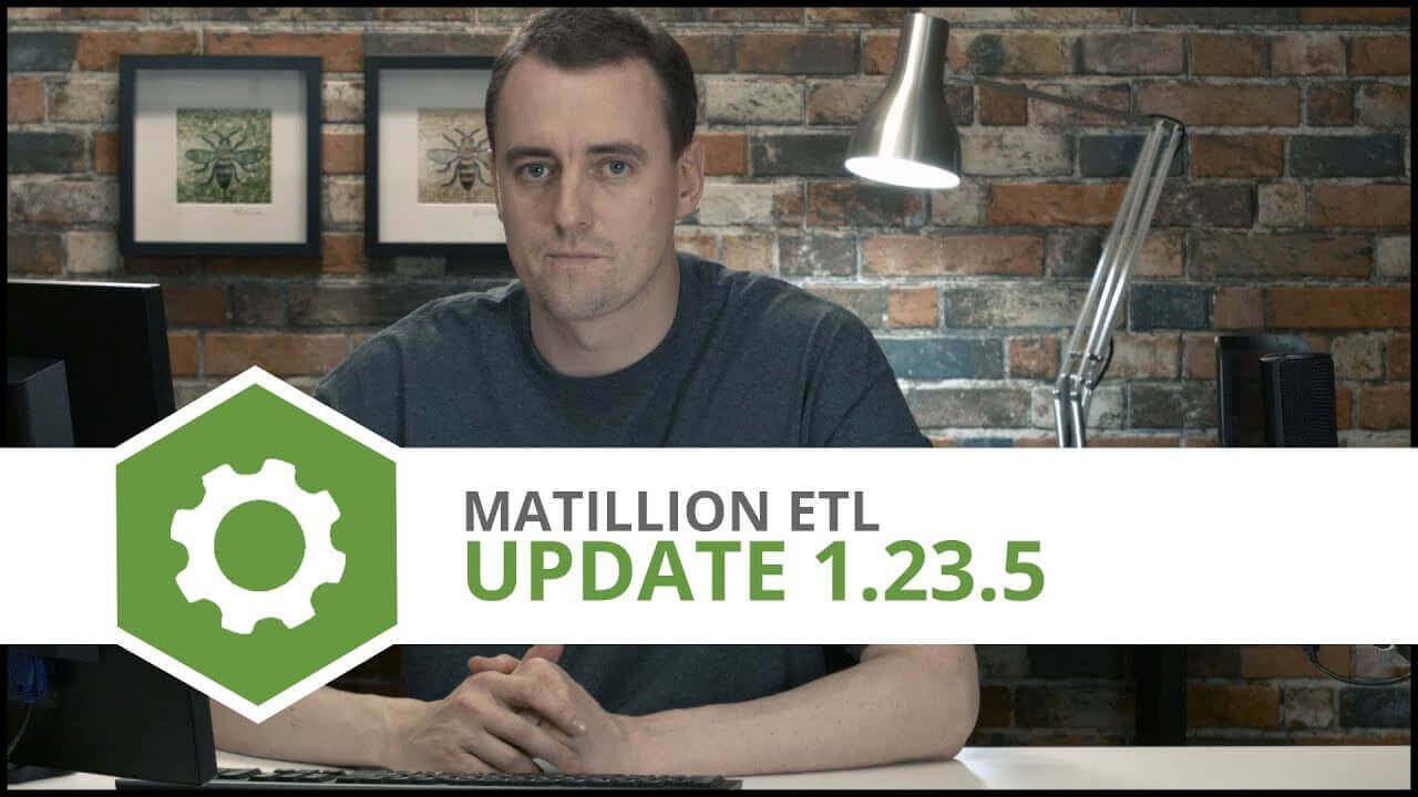 Update   1.23.5   Matillion ETL for Amazon Redshift