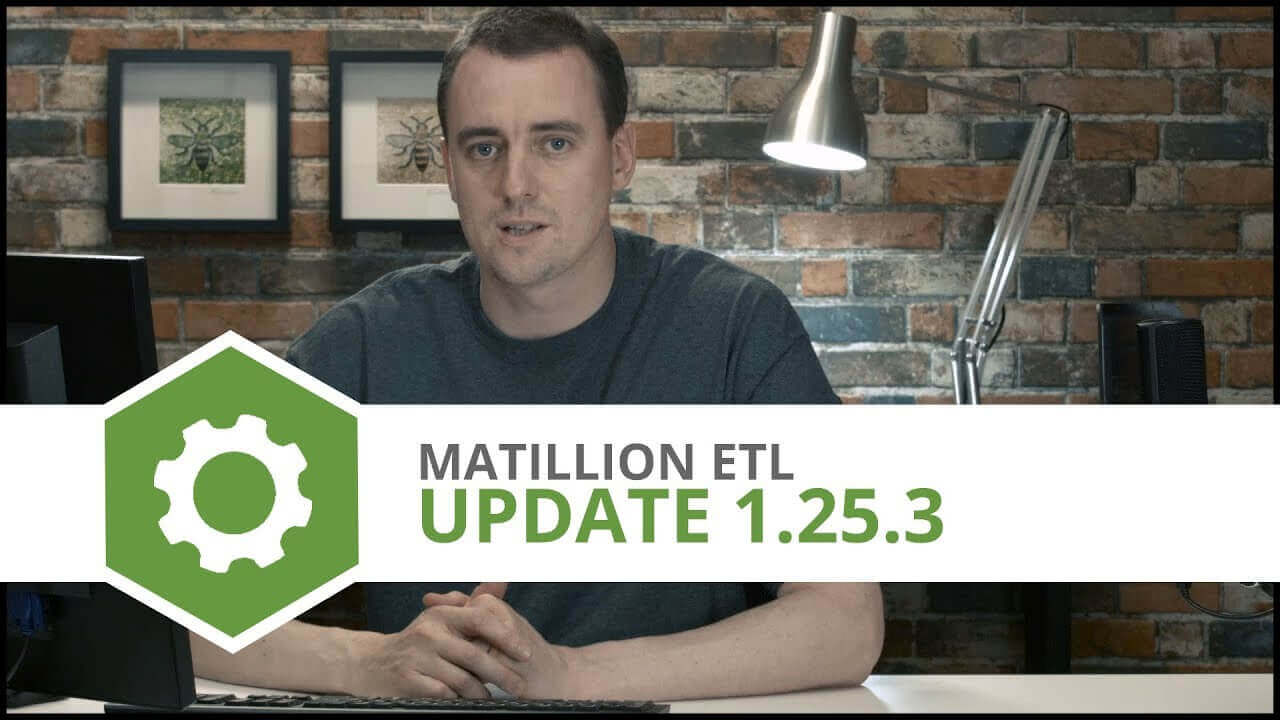 Update   1.25.3   Matillion ETL for Amazon Redshift