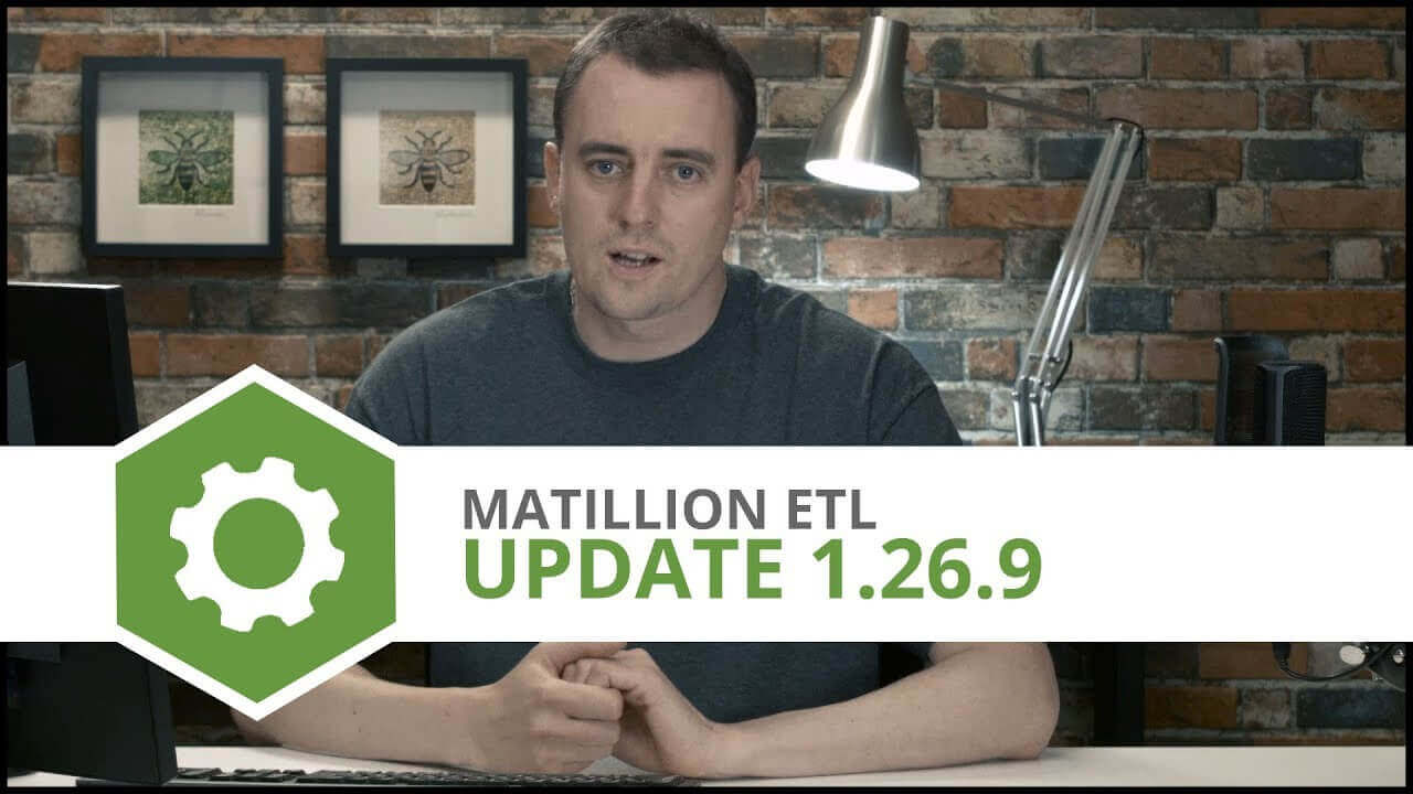 Update   1.26.9   Matillion ETL for Amazon Redshift