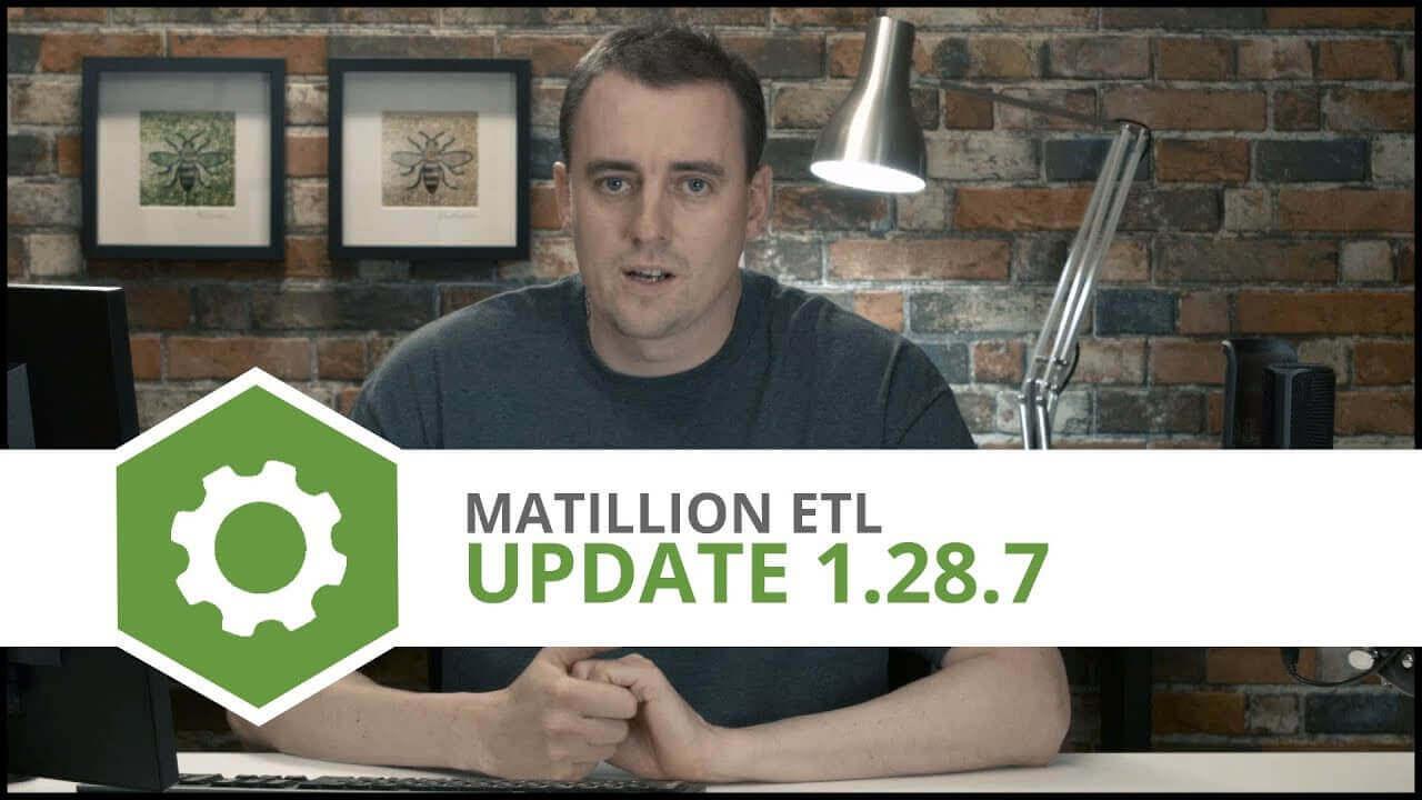Update   1.28.7   Matillion ETL for Amazon Redshift