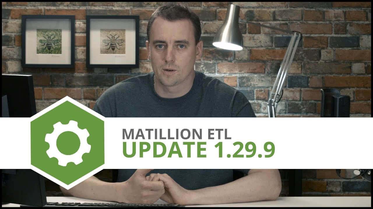 Update   1.29.9   Matillion ETL for Amazon Redshift