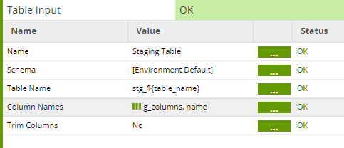 Matillion ETL Grid Variables to Incrementally Load - Table Input