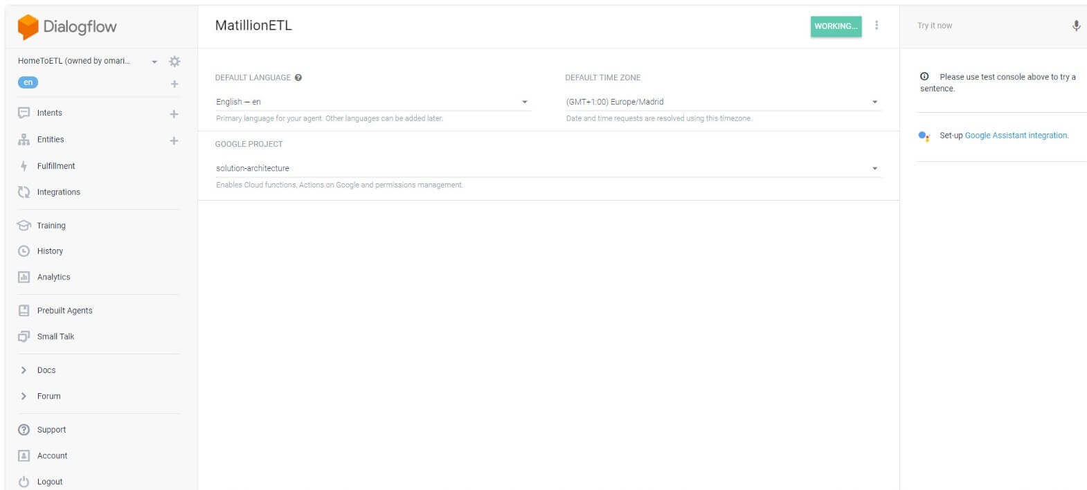 Matillion ETL for BigQuery Job from your Google Home device - Agent