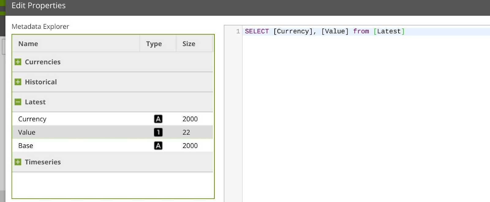 Using the Open Exchange Rates Query Component in Matillion ETL for Snowflake - SQL Statement