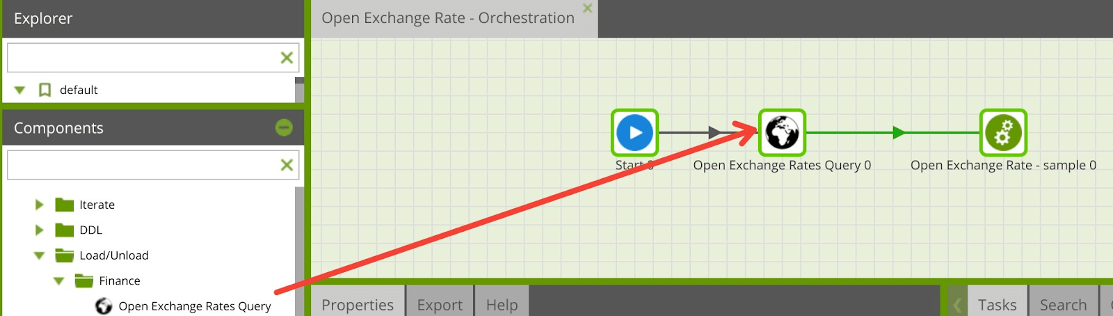 Using the Open Exchange Rates Query Component in Matillion ETL for Snowflake
