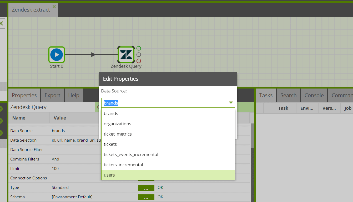 Zendesk Query Component In Matillion ETL For Amazon Redshift
