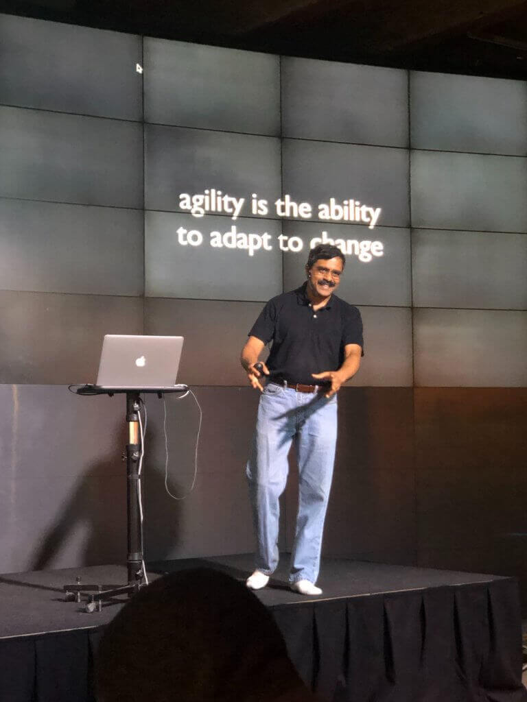 venkat onstage agility is the ability to adapt to change
