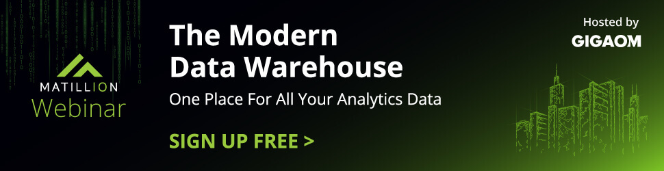 Modern Data Warehouse webinar banner