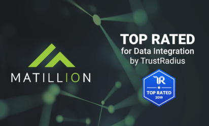 This is an announcement that Matillion won the 2019 TrustRadius Top Rated Award