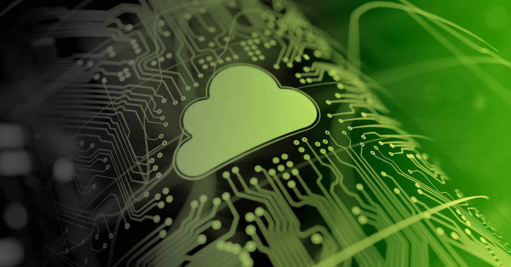 Data Cloud Security Controls: Photo of a cloud icon on a motherboard