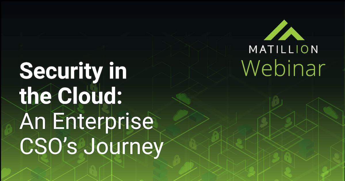Enterprise Cloud Security Webinar: Matillion