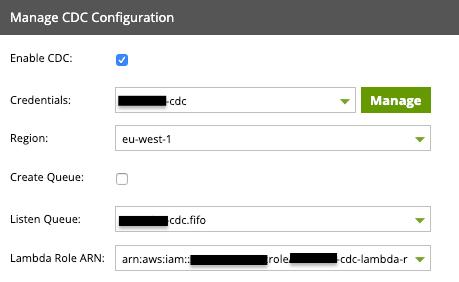 manage cdc configuration