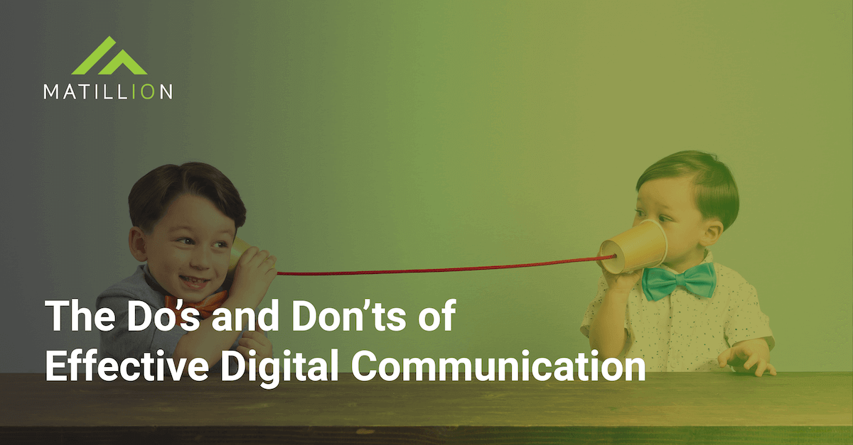 The Do's and Don'ts of Effective Digital Communication: Two kids on a can and string phone