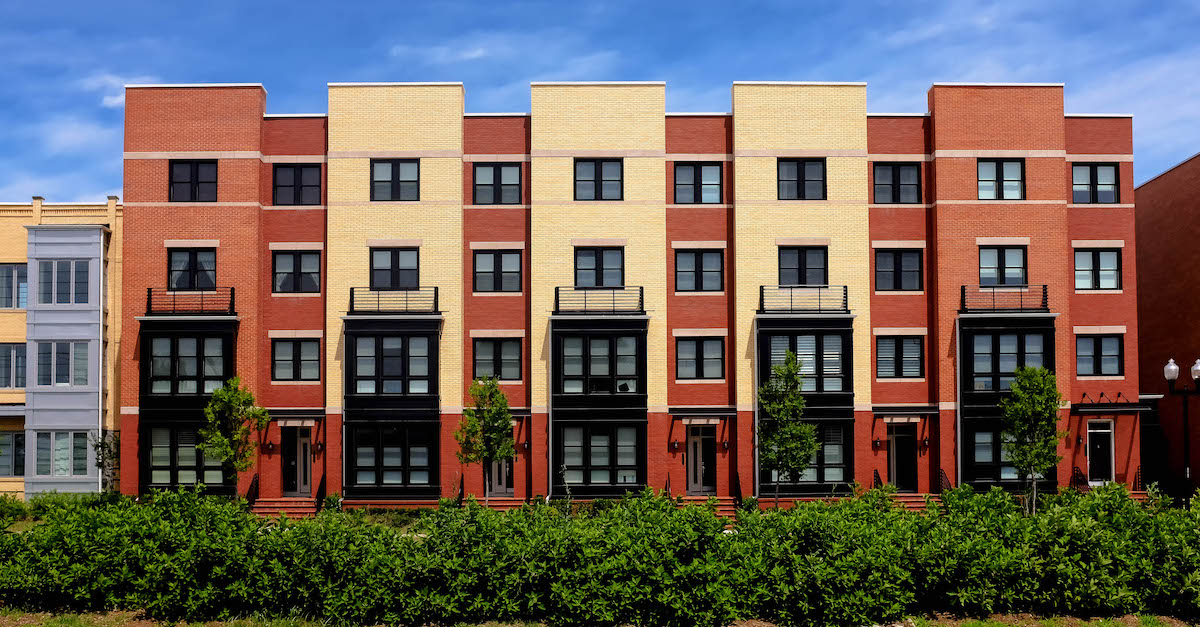 Data insights for the mortgage industry: A photo of an apartment building