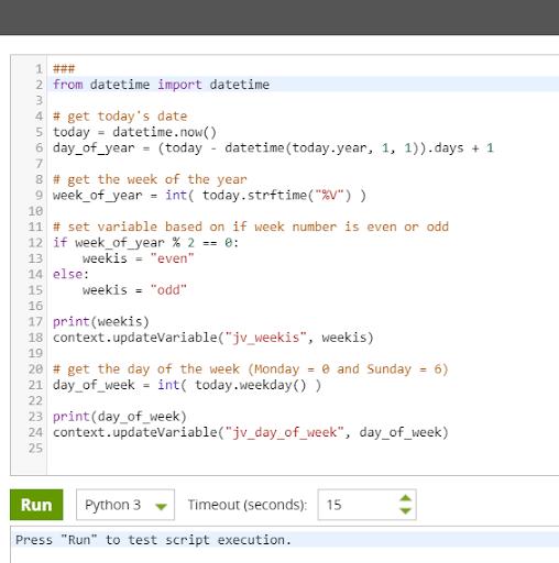 Complex jobs in Matillion ETL: Python 3 job script