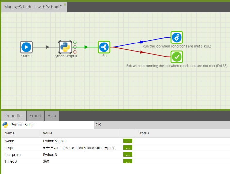 Complex schedules in Matillion ETL: Python job setup