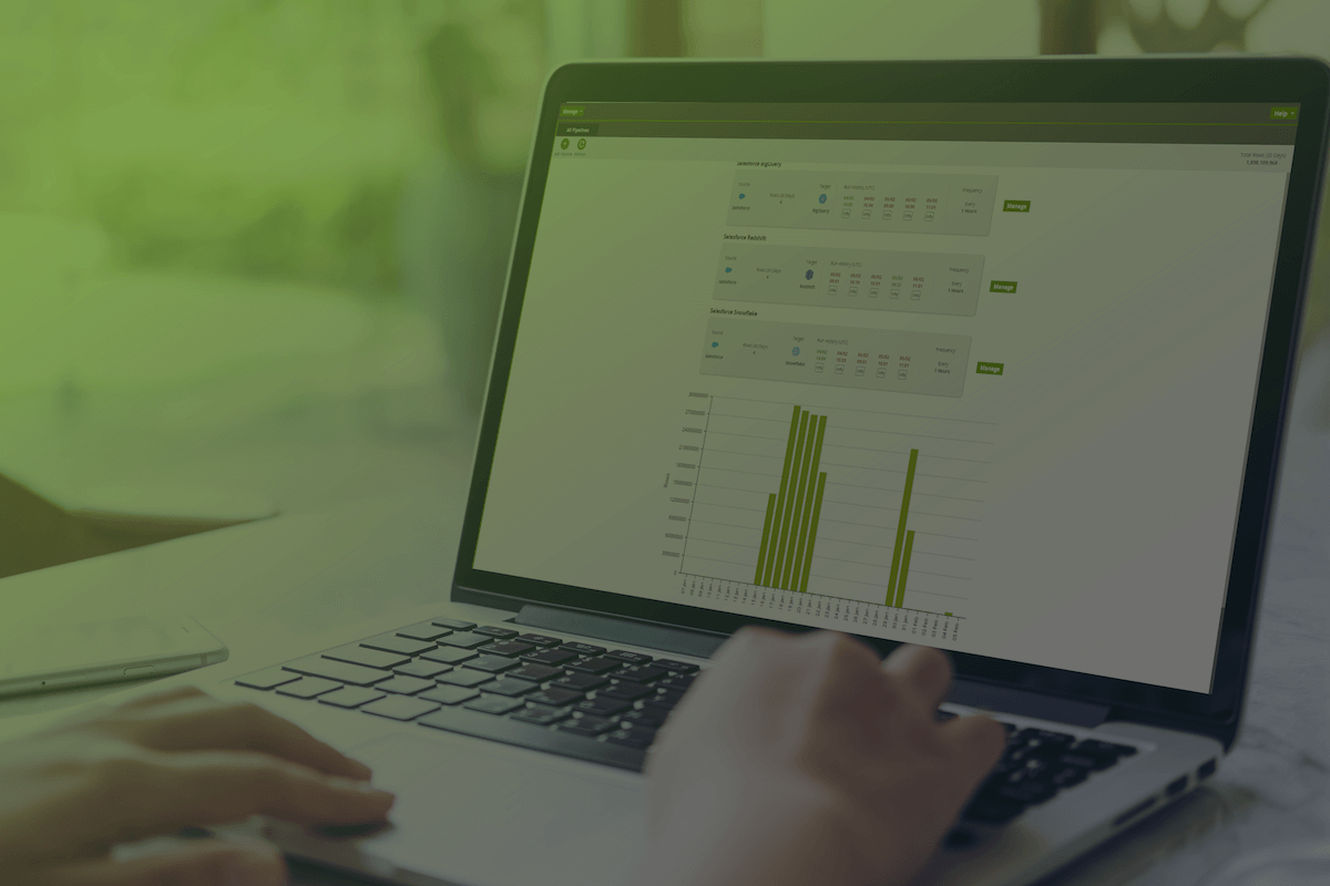 Matillion Data Loader dashboard on desktop