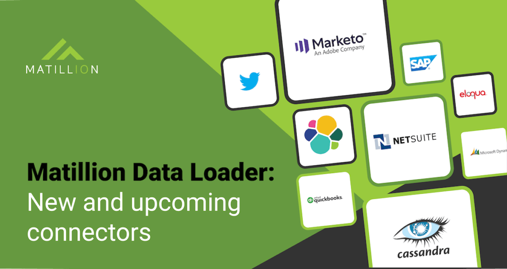 Matillion Data Loader: this is a screen listing new and upcoming connectors