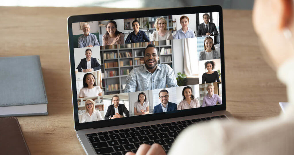 Remote collaboration with Matillion: This is a videoconference screen