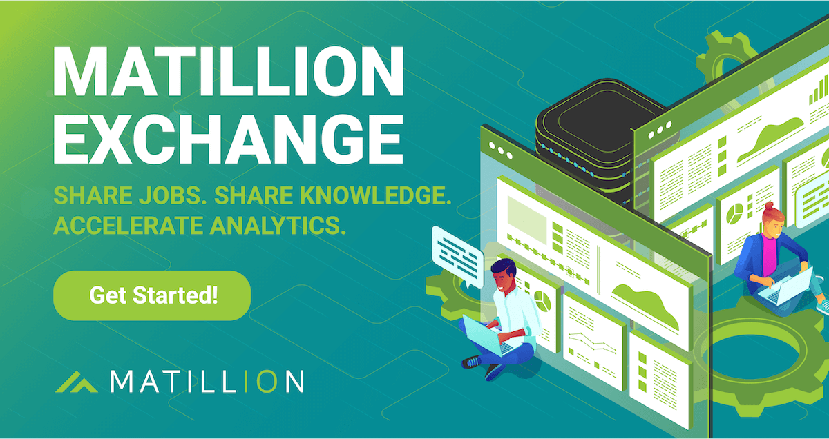 Matillion Exchange Now Available: Shared Jobs